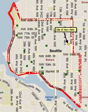 Map of Ballard area parks