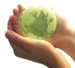 Green Globe Hands