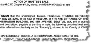 Marlborough House Notice of Trustees Sale