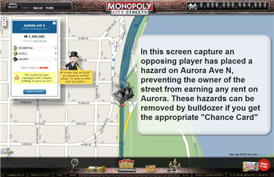 Monopoly City Streets - hazards screenshot