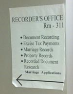 King County Recorder's Office sign 2