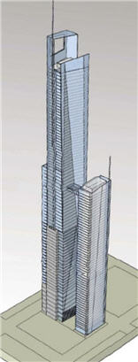 proposed Trump Tower illustration