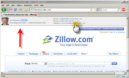 Zillow co-branded web page