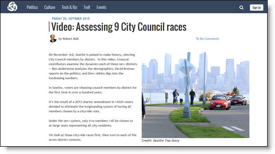 Seattle City Council 9 videos - Crosscut blog post